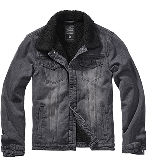 Pánská bunda BRANDIT SHERPA Denim Jacket Black