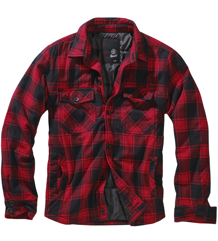 Pánská bunda BRANDIT LUMBERJACKET Red-Black