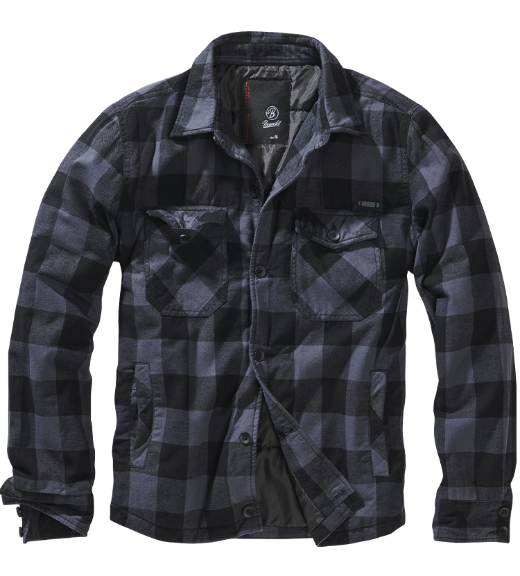 Pánská bunda BRANDIT LUMBERJACKET Grey-Black