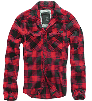 BRANDIT košile Checkshirt Red / Black