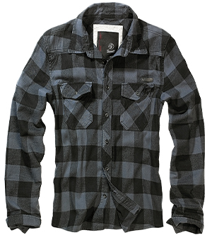 BRANDIT košile Checkshirt Black / Grey