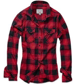 Dámská košile BRANDIT Amy Flanell Shirt GIRLS - Red/Black