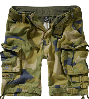 kraťasy BRANDIT Savage Shorts Vintage - Swedish Camo