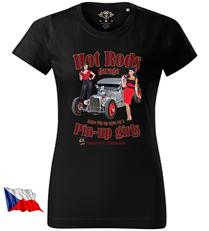 HANZI WORK dámské tričko - HOT ROD´S & Pin-Up